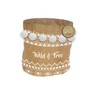 Panier cache pot en jute Ethnic - Diam. 24 cm - Wild and free