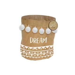 Panier cache pot en jute Ethnic - Diam. 24 cm - Dream