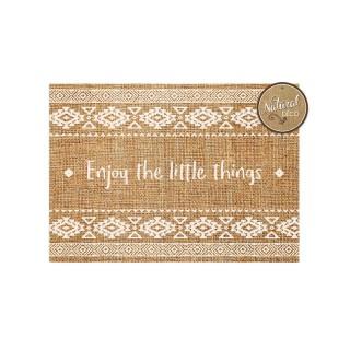 Set de table rectangulaire en jute Ethnik - 42 x 30 cm - Enjoy the little things