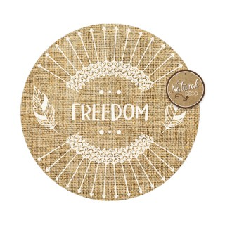 Set de table rond en jute Ethnik - Diam. 39 cm - Freedom
