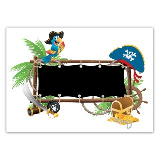 Sticker enfant ardoise Pirate - 70 x 50 cm - Multicolore