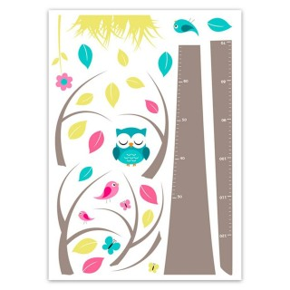 Sticker enfant Arbre - 70 x 50 cm - Multicolore