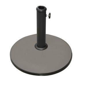 Pied de parasol rond en ciment - 25 kg - Taupe