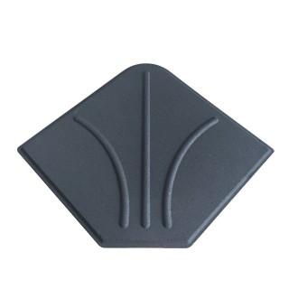Dalle en ciment pour parasol déporté - 20 kg - Gris