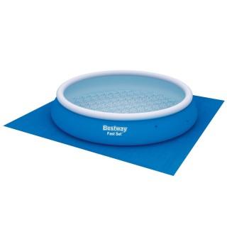 Tapis de sol pour piscine de Diam. 4,57 m - Bleu