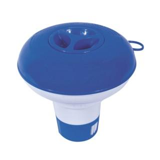Doseur distributeur flottant de chlore pour piscine - Pastille de 20 g - Diam. 12,7 cm