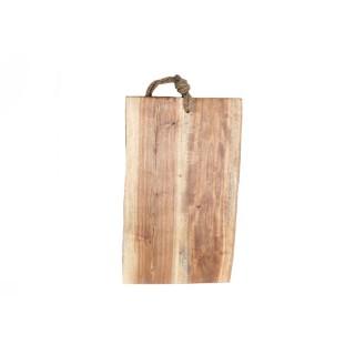 Planche à découper en bois - 38 x 22 cm - Marron
