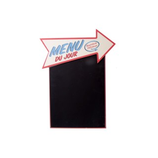 Tableau mémo ardoise Vintage - 37 x 48 cm - Menu du jour