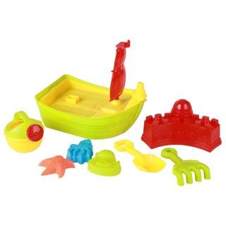Set de plage bateau et accessoires - 8 pièces - Vert