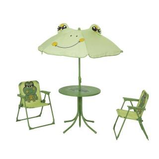 Salon de jardin enfant Grenouille - Métal - Vert