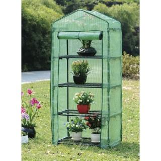 Serre de jardin à 4 Etagères - 68 x H. 162 cm - Vert
