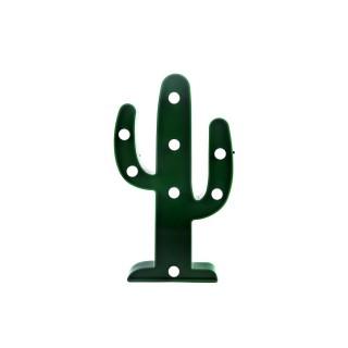 Cactus déco LED - 15 x H. 26 cm - Vert