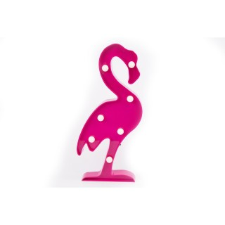 Flamant rose déco LED - 14 x H. 30 cm - Rose