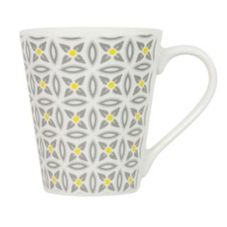 Mug en porcelaine Aristo - Blanc décoré
