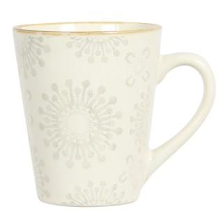 Mug en grès Mahé - Blanc fleuri