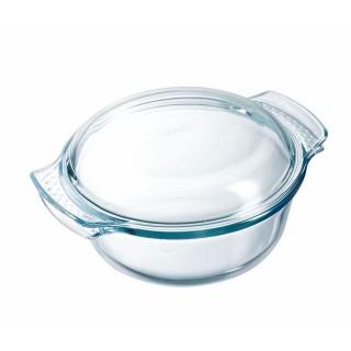 Cocotte ronde en verre Cuisto - 2,1 L - Transparent