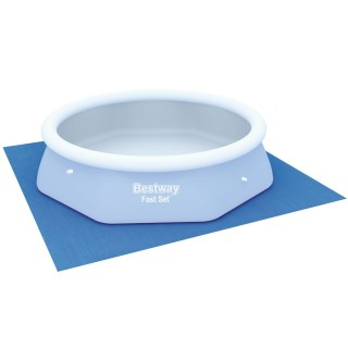 Tapis de sol pour piscine ronde - 274 x 274 cm - Bleu