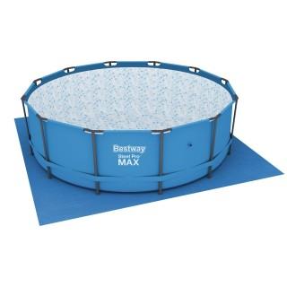 Tapis de sol pour piscine ronde - 396 x 396 cm - Bleu