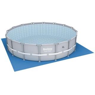 Tapis de sol pour piscine ronde - 520 x 520 cm - Bleu