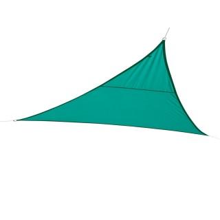 Toile solaire / Voile d'ombrage triangulaire Curacao - 3 x 3 x 3 m - Bleu émeraude