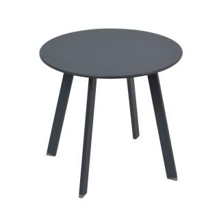 Table d'appoint de jardin Saona - Diam. 50 cm - Noir graphite