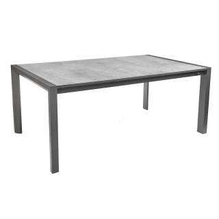 Table de jardin extensible 10 Personnes Corfou - L. 180/240 cm - Anthracite skyline