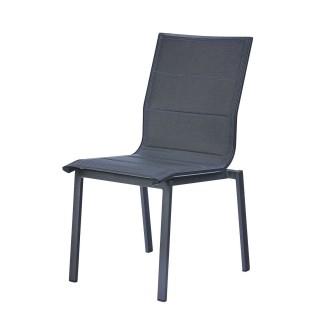 Chaise de jardin Ajaccio - Aluminium et textilène - Anthracite
