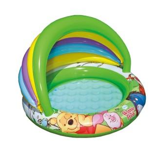 Piscine bébé gonflable avec pare-soleil Winnie - Diam. 102 cm - Multicolore