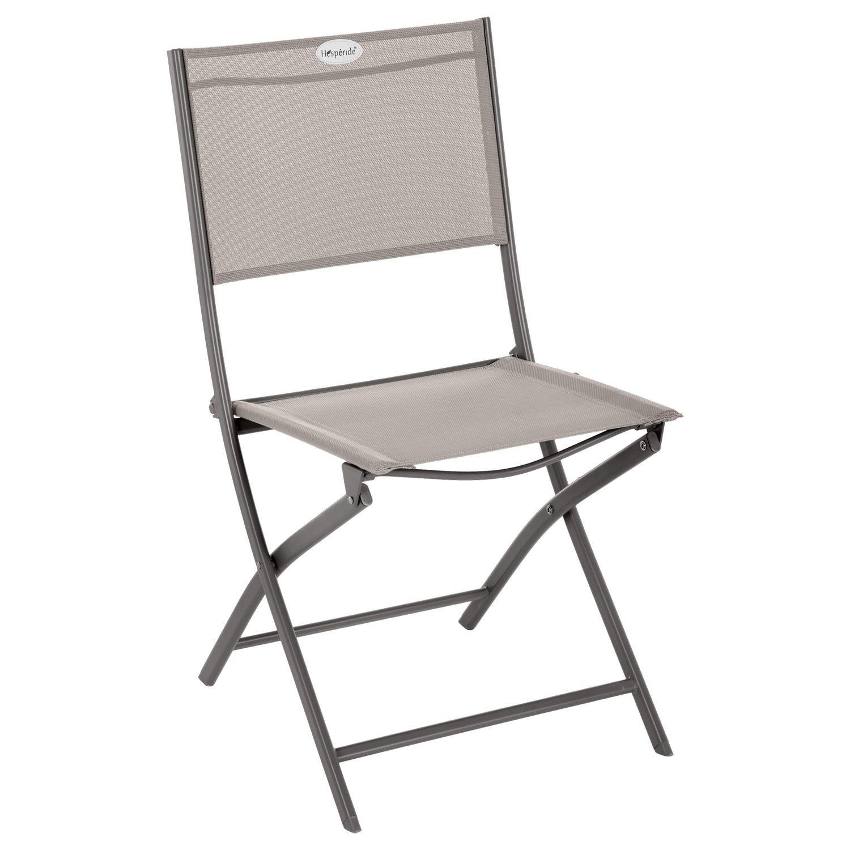 Chaise de jardin pliable Modula Acier et polyester Taupe