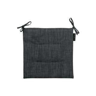 Galette de chaise 4 Boutons - 40 x 40 cm - Noir chiné