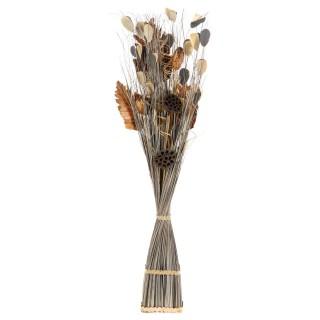 Fagot de fleurs séchées Lucile - H. 100 - Marron