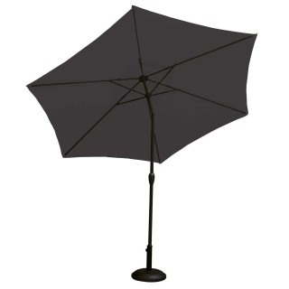 Parasol droit à LED Monaco - Diam. 270 cm - Anthracite