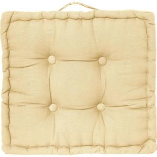 Coussin de sol carré - 40 x 40 cm - Jaune pastel