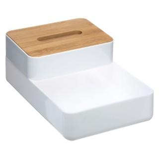 2 Boîtes de rangement salle de bain Baltik - Blanc