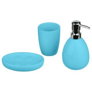 Coffret accessoires de salle de bain Sun - 3 Pièces - Turquoise