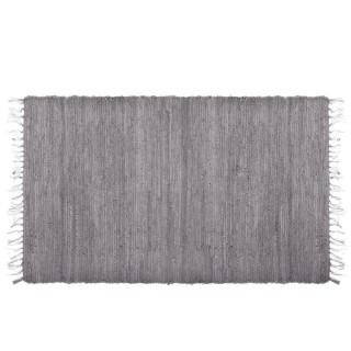 Tapis à franges Factory - 140 x 70 cm - Gris clair