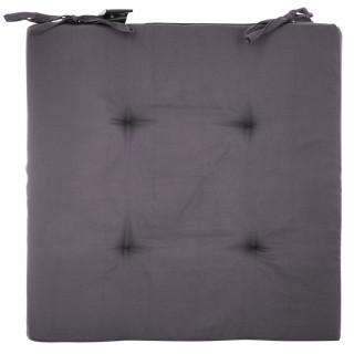 4 Galettes de chaise - 40 x 40 cm - Gris foncé