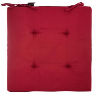 4 Galettes de chaise - 40 x 40 cm - Rouge