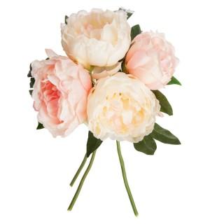 Bouquet de fleurs artificielles - H. 30 cm - Rose