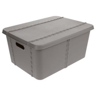 Boîte de rangement Shop - 47 x H. 21 cm - Gris