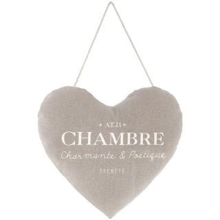 Cœur à suspendre Chambre Garden - Diam. 18 cm - Taupe