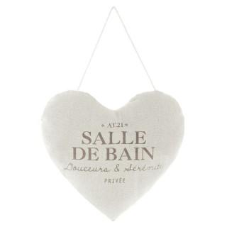Cœur à suspendre Salle de bain Garden - Diam. 18 cm - Couleur Lin
