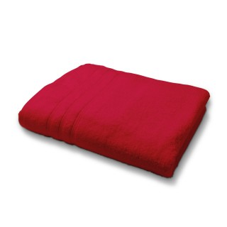 Drap de Bain en coton - 70 x 130 cm - Rouge