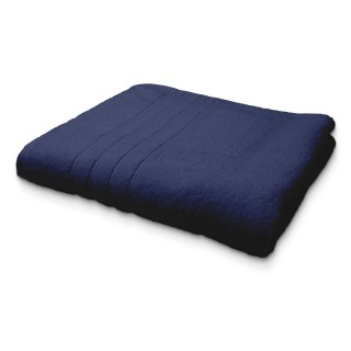 Maxi Drap de Bain en coton - 90 x 150 cm - Bleu foncé