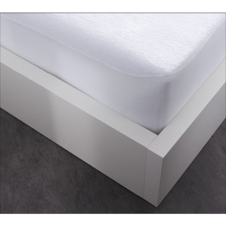 Protège matelas Alèse en coton By Night - 160 x 200 cm - Blanc