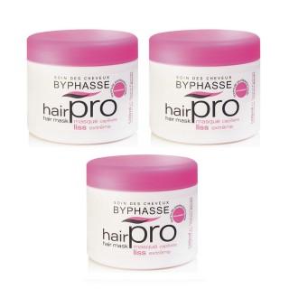 Lot de 3 - Masque capillaire Liss Extreme Hair Pro - Cheveux Rebelles - 500 ml