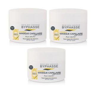 Lot de 3 - Masque capillaire aux Oeufs Familly - Tous Types De Cheveux - 250 ml