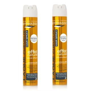 Lot de 2 - Laque pour coiffures relevées Effet Lumineux - Fixation forte - 400 ml