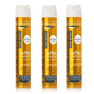 Lot de 3 - Laque pour coiffures relevées Effet Lumineux - Fixation forte - 400 ml