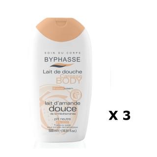 Lot de 3 - Lait de douche Caresse Amande Douce - Tous types de peaux - 500 ml